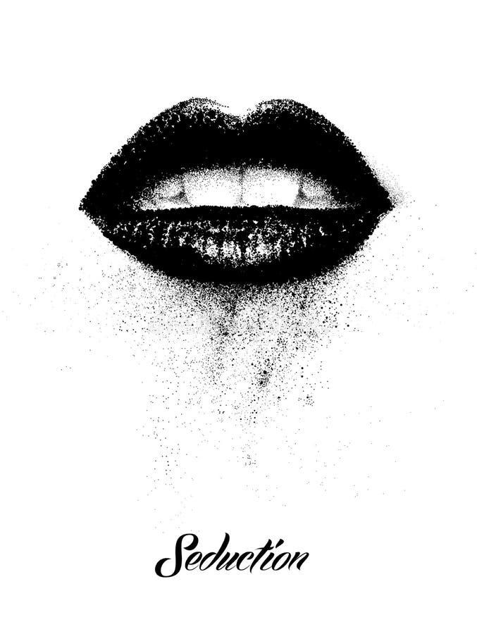 嘴唇 皇族释放例证