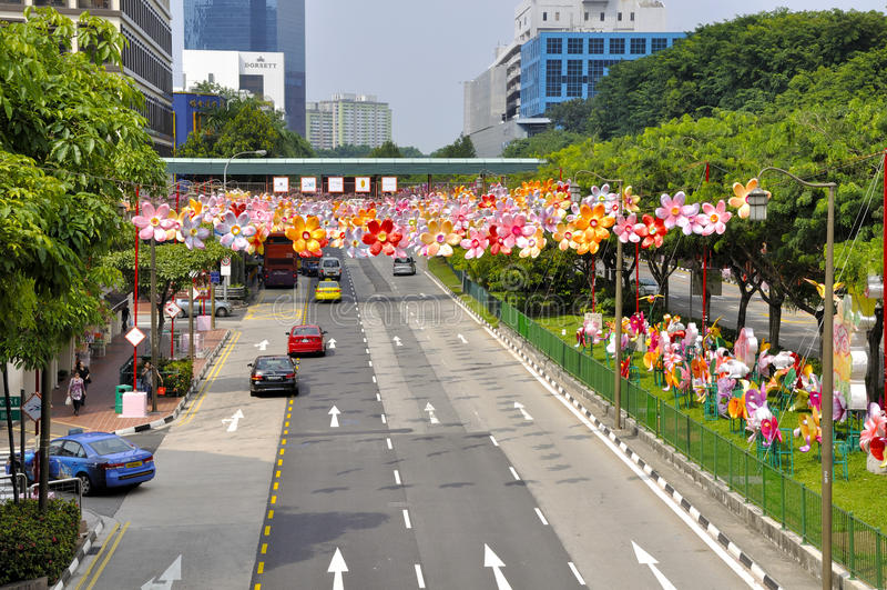 唐人街中秋节 库存图片