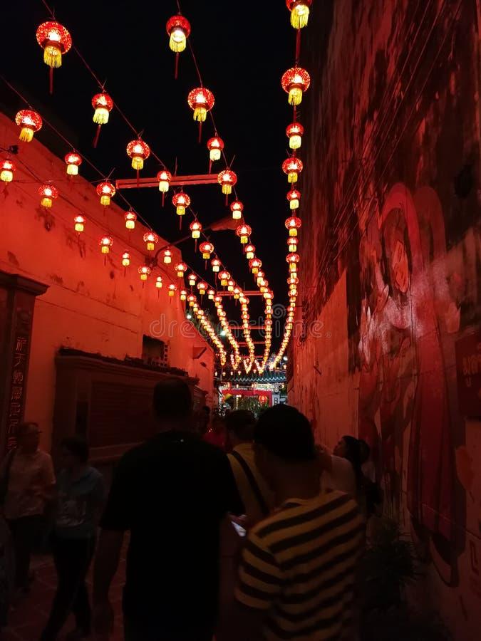唐人街在普吉岛,泰国 免版税库存图片