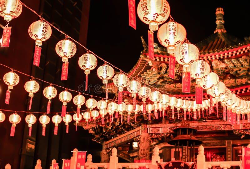 唐人街寺庙 免版税库存照片