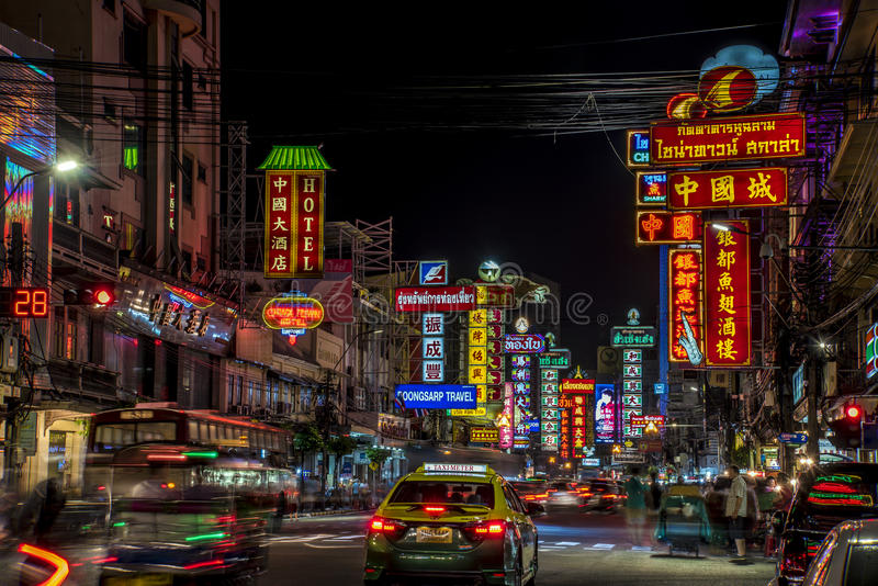 Download 唐人街曼谷泰国 编辑类库存图片. 图片 包括有 聚会所, 唐人街, 汽车, 晚上, 出租汽车, 的treadled - 62533729