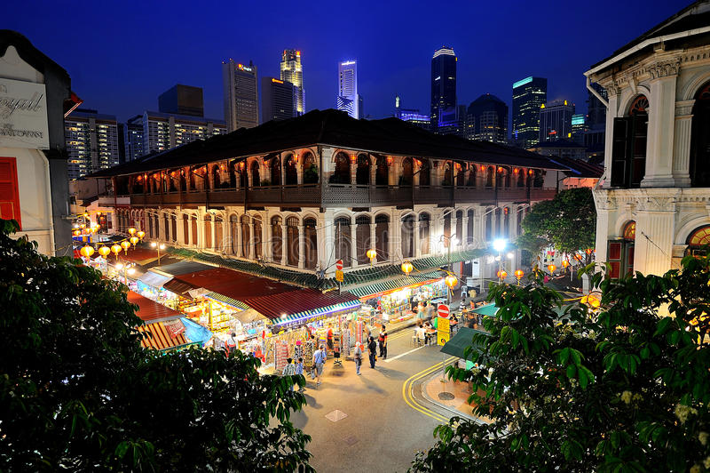 唐人街,新加坡 库存照片