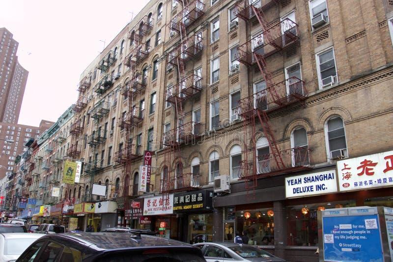 唐人街-纽约-唐人街处所 免版税库存图片