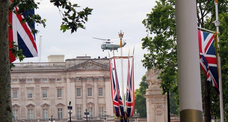 唐纳德・川普,伦敦,英国,储蓄照片,3/6/2019 -离开白金汉宫的唐纳德・川普在直升机英国国事访问天之前 库存照片