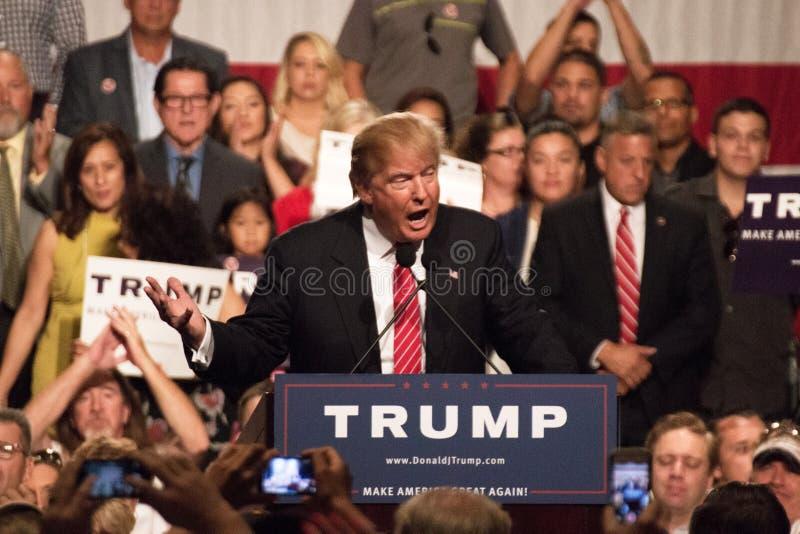 唐纳德・川普的第一次总统选举集会在菲尼斯 图库摄影