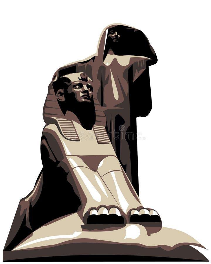 唤醒埃及s的艺术 皇族释放例证