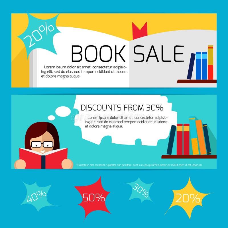 售书水平的横幅 向量例证