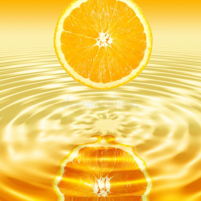 唯一交叉橙色反映的部分 免版税库存照片