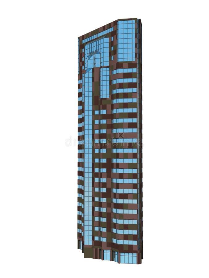 唯一摩天大楼 库存例证