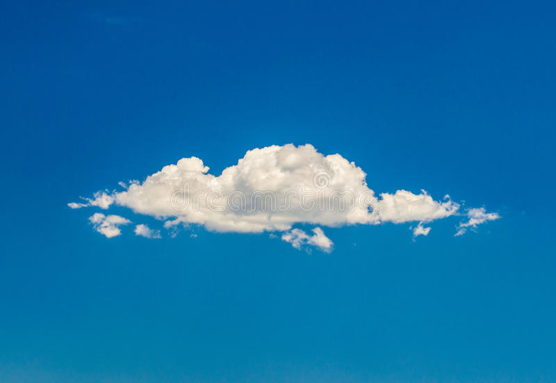 唯一的云彩 库存照片