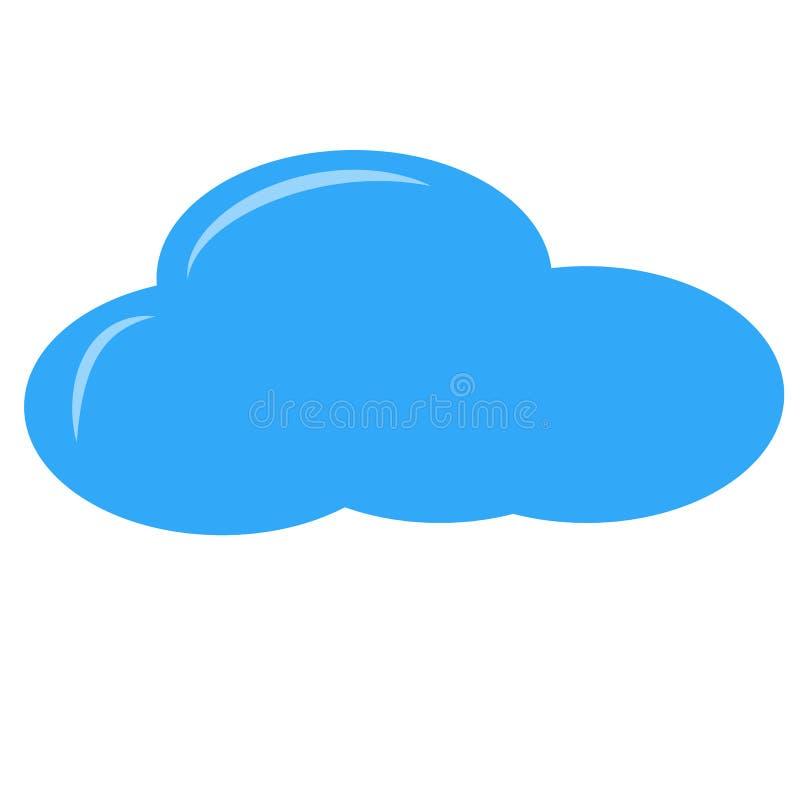 唯一的云彩 库存例证