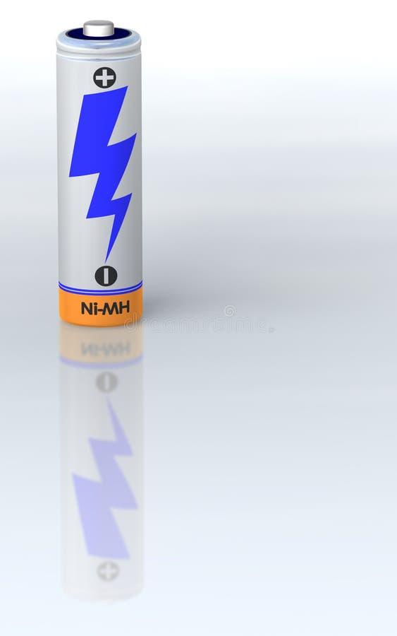 唯一的电池 向量例证