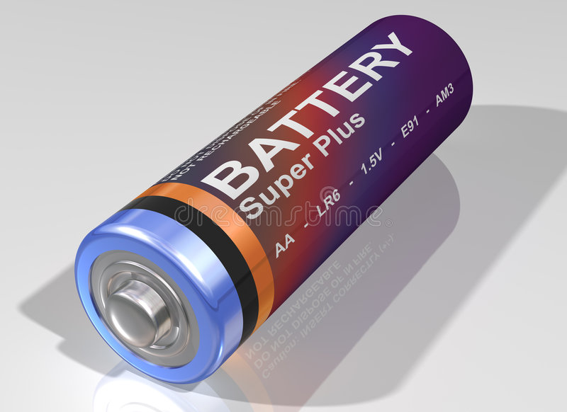 唯一的电池 库存例证