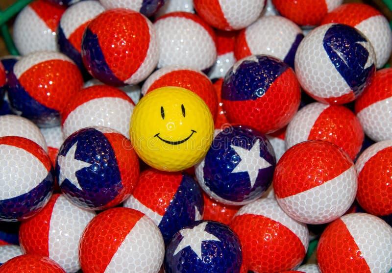 唯一的golfballs 库存照片