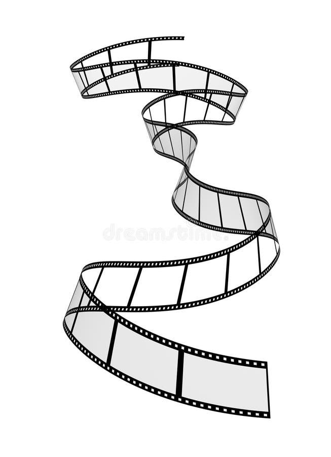 唯一空白的filmstrip 库存例证