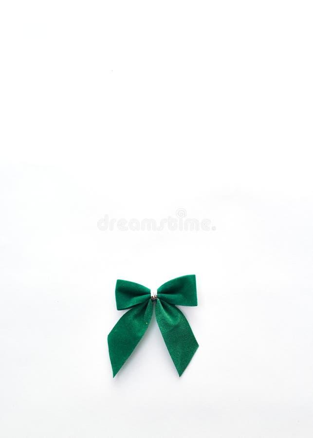 唯一绿色天鹅绒弓 免版税库存图片