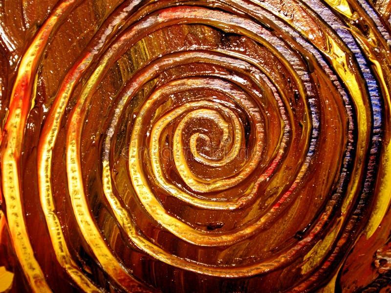 唯一被绘的模式的螺旋 库存照片
