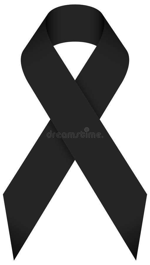 唯一被隔绝的黑哀悼的丝带 向量例证