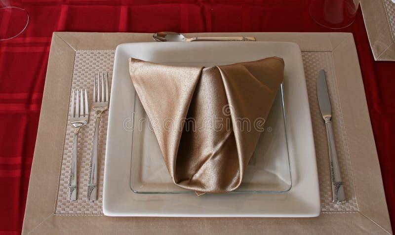唯一餐位餐具 免版税库存图片
