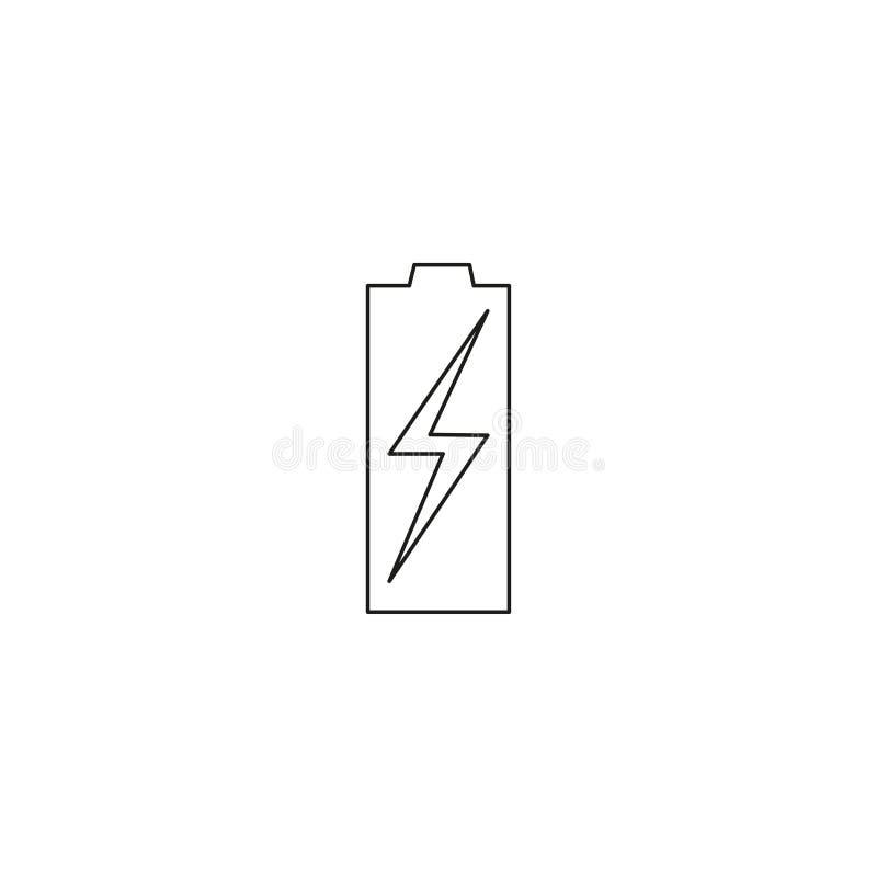 唯一cleanLow空的电池现代&简单的手机或流动电池 库存例证
