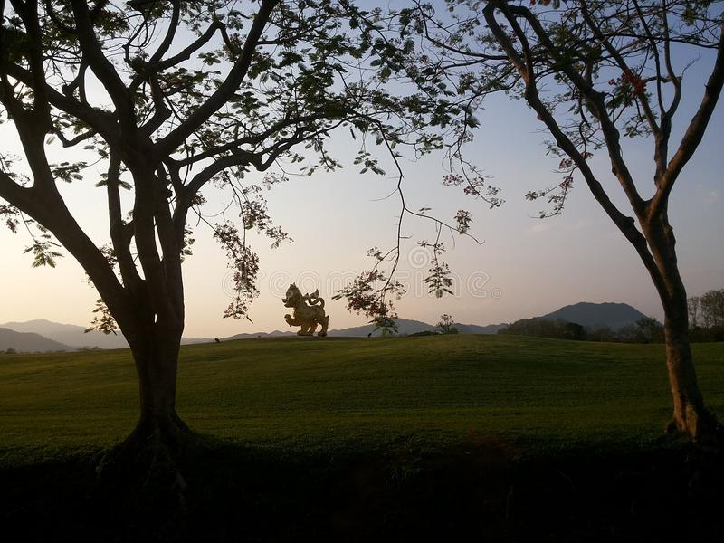 唱公园,清莱,泰国 免版税库存图片