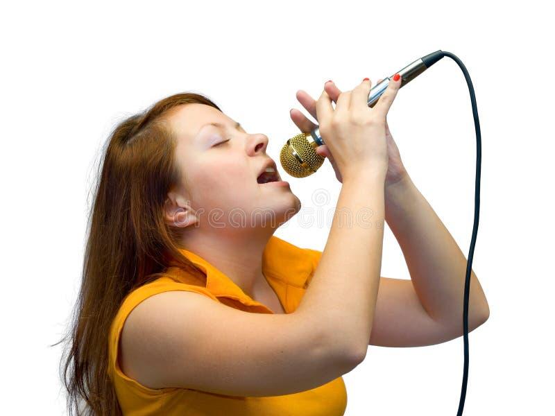 唱新的妇女 免版税图库摄影