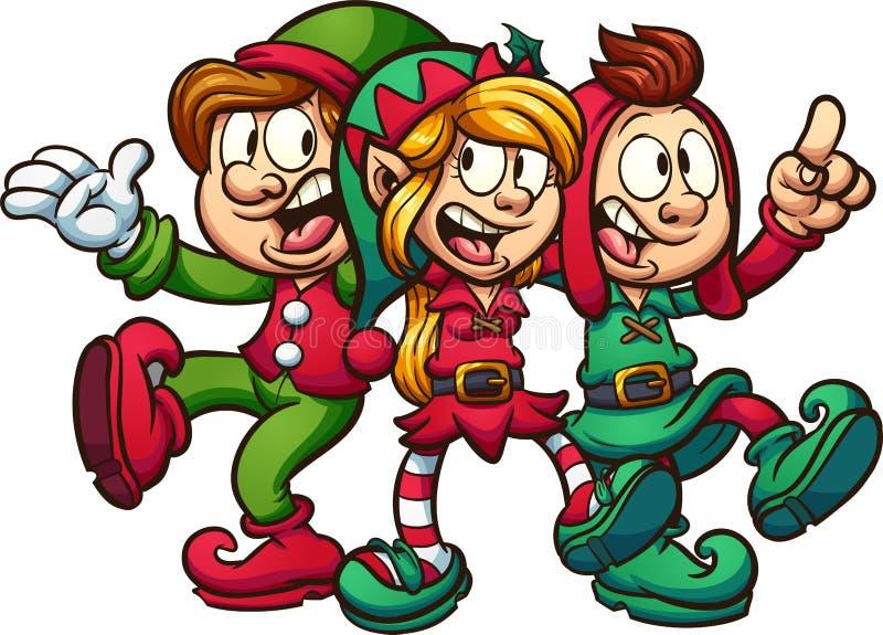 唱歌圣诞节矮子 库存例证