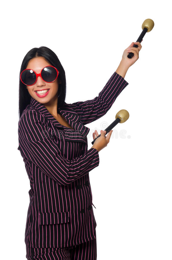 Download 唱歌在卡拉OK演唱俱乐部的妇女隔绝在whie 库存图片. 图片 包括有 相当, 音乐家, 女性, 音乐会 - 72365155