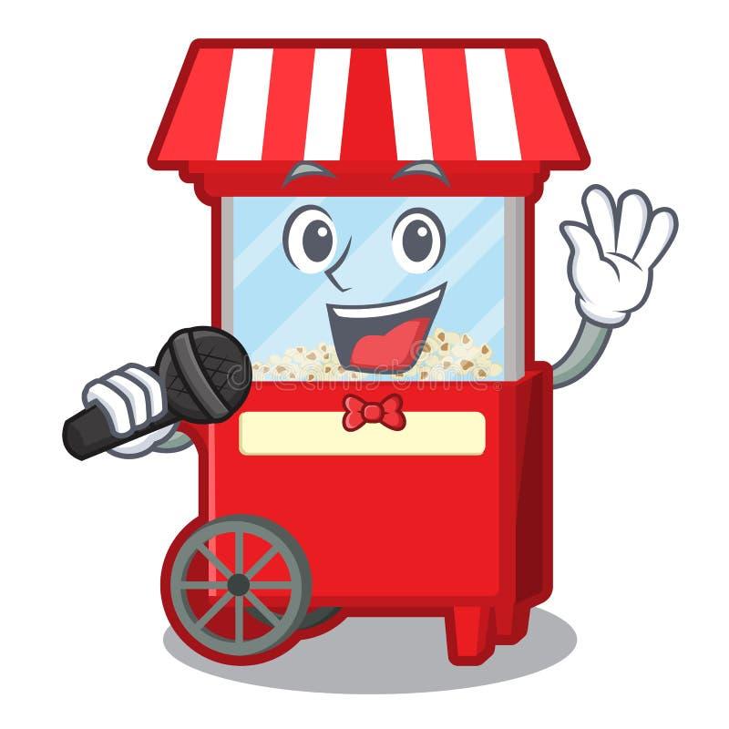 唱歌在吉祥人隔绝的玉米花机器 皇族释放例证