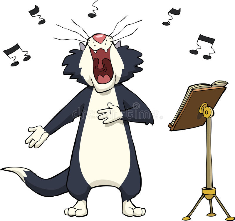 唱歌猫 库存例证