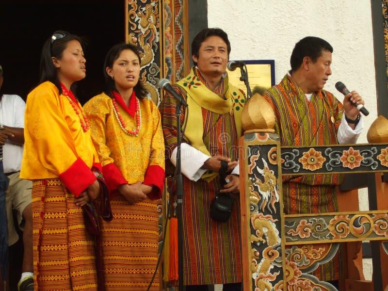 唱歌的人群 图库摄影片