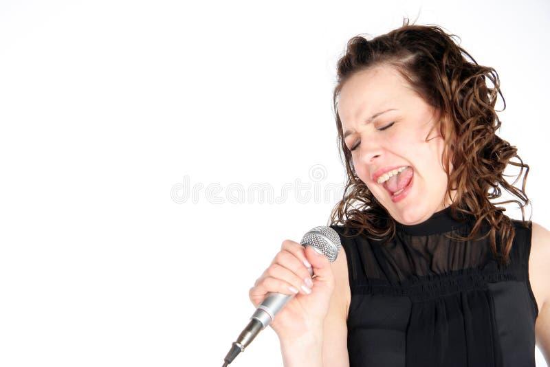 唱歌的女孩 库存图片