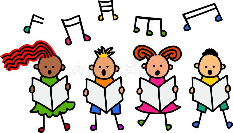 唱歌的孩子 库存例证