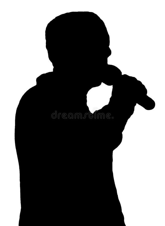 唱歌站立 向量例证