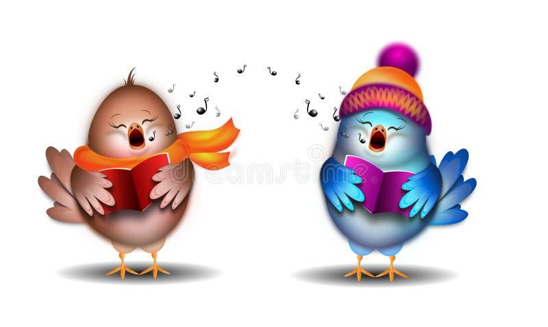 唱歌鸟例证 向量例证
