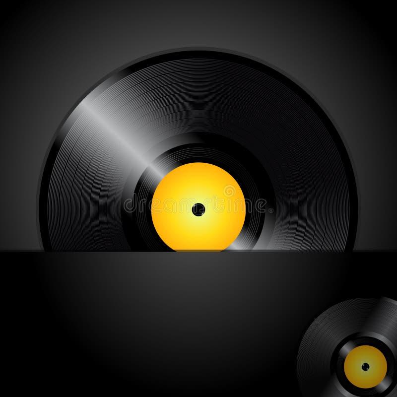 唱片盘区cao 向量例证