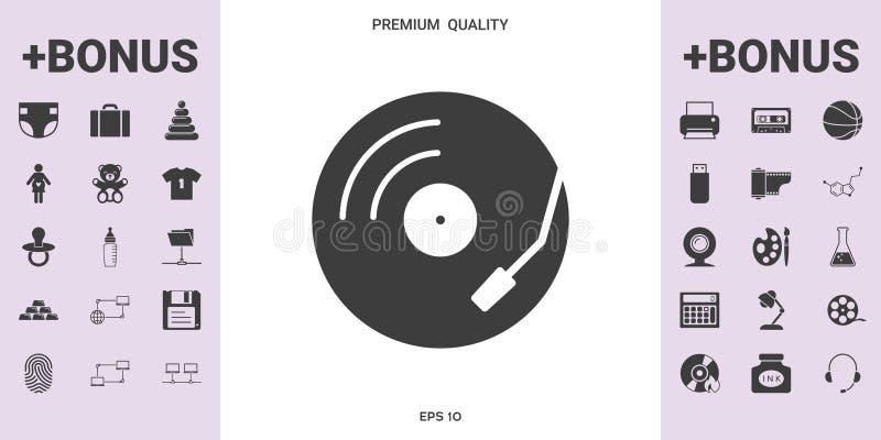 唱片转盘象-您的设计的图表元素 皇族释放例证