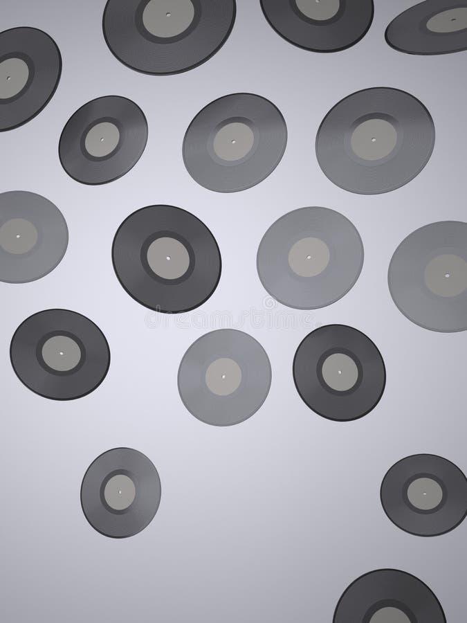 唱片-音乐背景 皇族释放例证