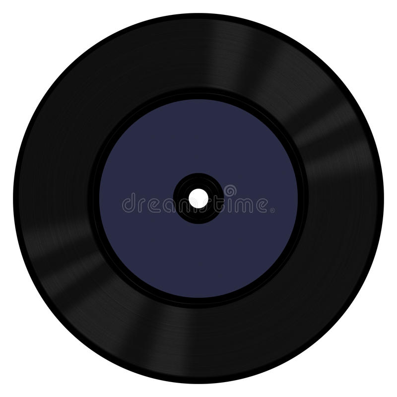 唱片45转每分钟 库存照片