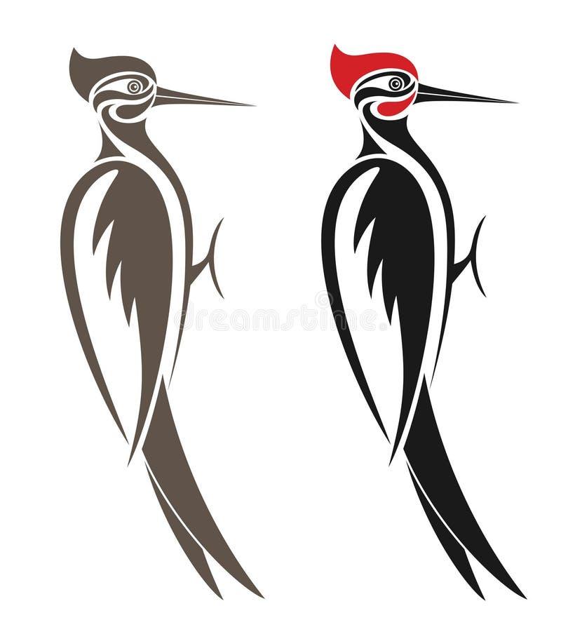 啄木鸟 向量例证