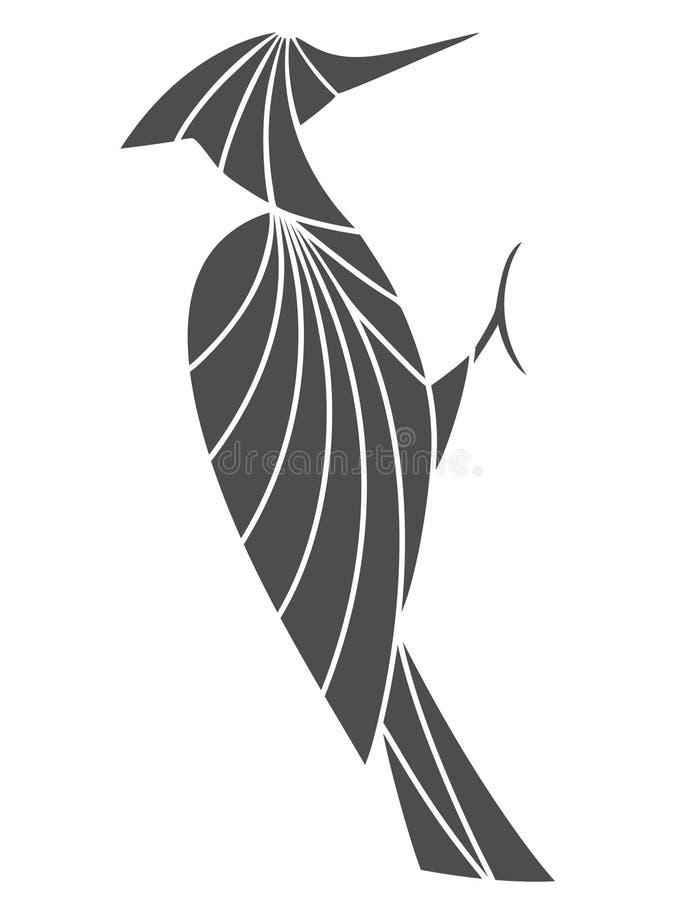 啄木鸟 皇族释放例证