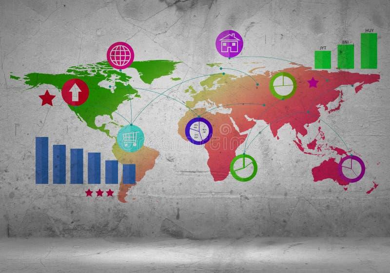 商业世界 向量例证