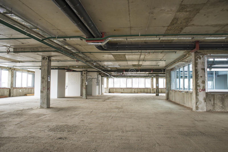 商业中心内部建设中 免版税库存照片