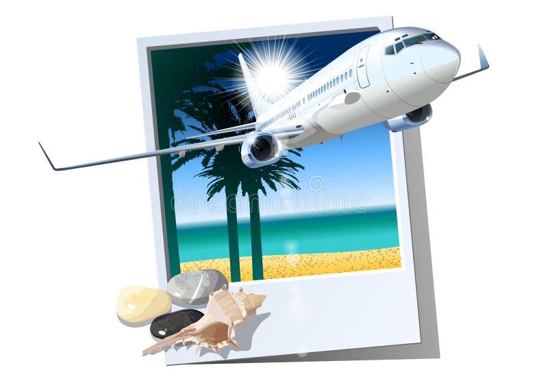 商业乘客飞机 库存例证