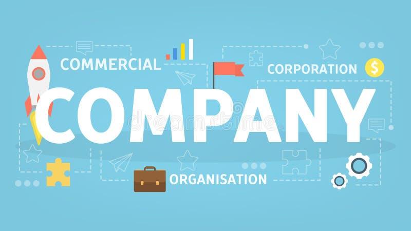 商业公司概念 人的想法  皇族释放例证