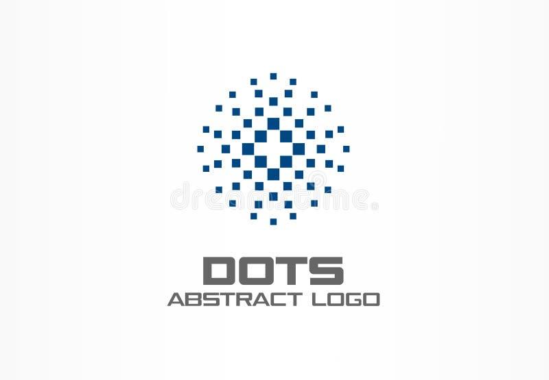 商业公司的抽象商标 公司本体设计元素 数字技术,地球,球形,圈子 库存例证