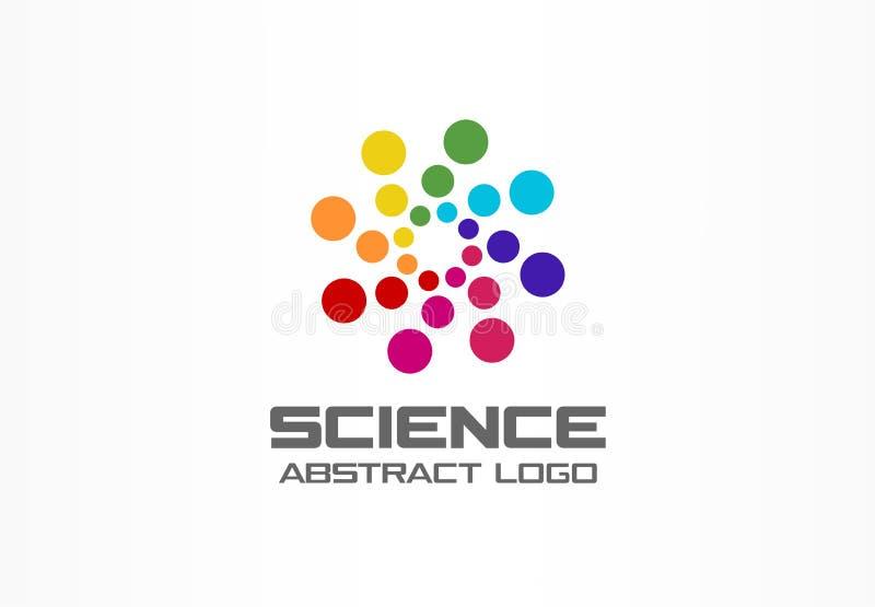 商业公司的抽象商标 公司本体设计元素 数字技术,地球,球形,圈子 皇族释放例证