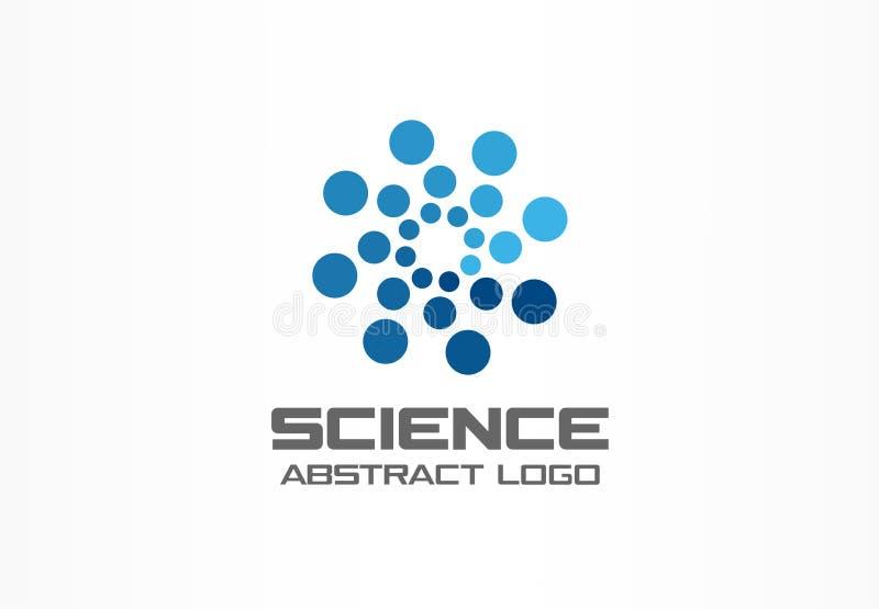 商业公司的抽象商标 公司本体设计元素 数字技术,地球,球形,圈子 向量例证