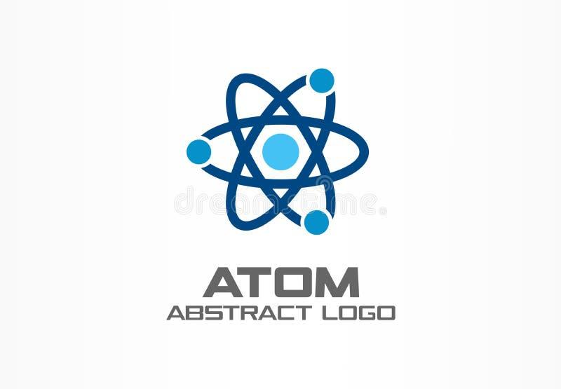 商业公司的抽象商标 公司本体设计元素 无限原子能,轨道连接,核 库存例证