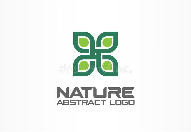 商业公司的抽象商标 公司本体设计元素 医疗保健,温泉,自然,环境,回收 库存例证